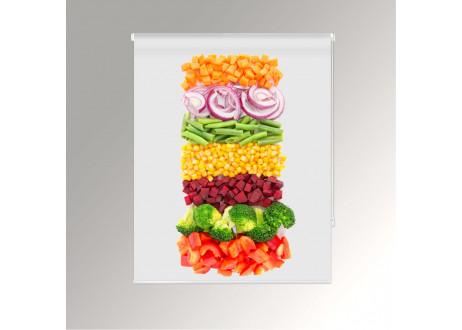 Estor fotográfico cocina impresión digital frutas y hortalizas