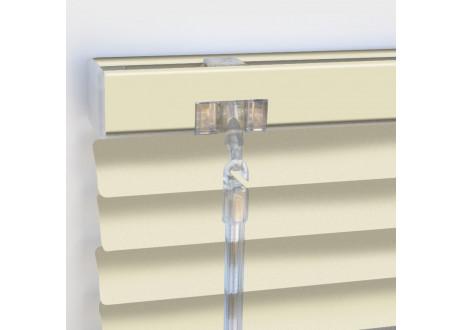 PS-CUSTARD-8102 persiana veneciana aluminio 25 mm acabado pastel