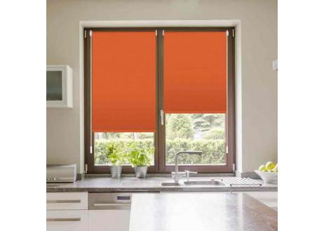 207-Naranja-estor-tejido-opaco-estor-enrollable-sintaladrar-easyfix