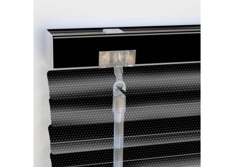 cortina veneciana aluminio lamas microperforadas acabado color negro
