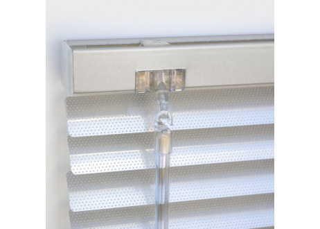 cortina veneciana aluminio lamas microperforadas acabado color aluminium