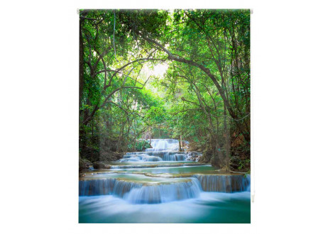 Estor estampado digital  a medida - Naturaleza y agua